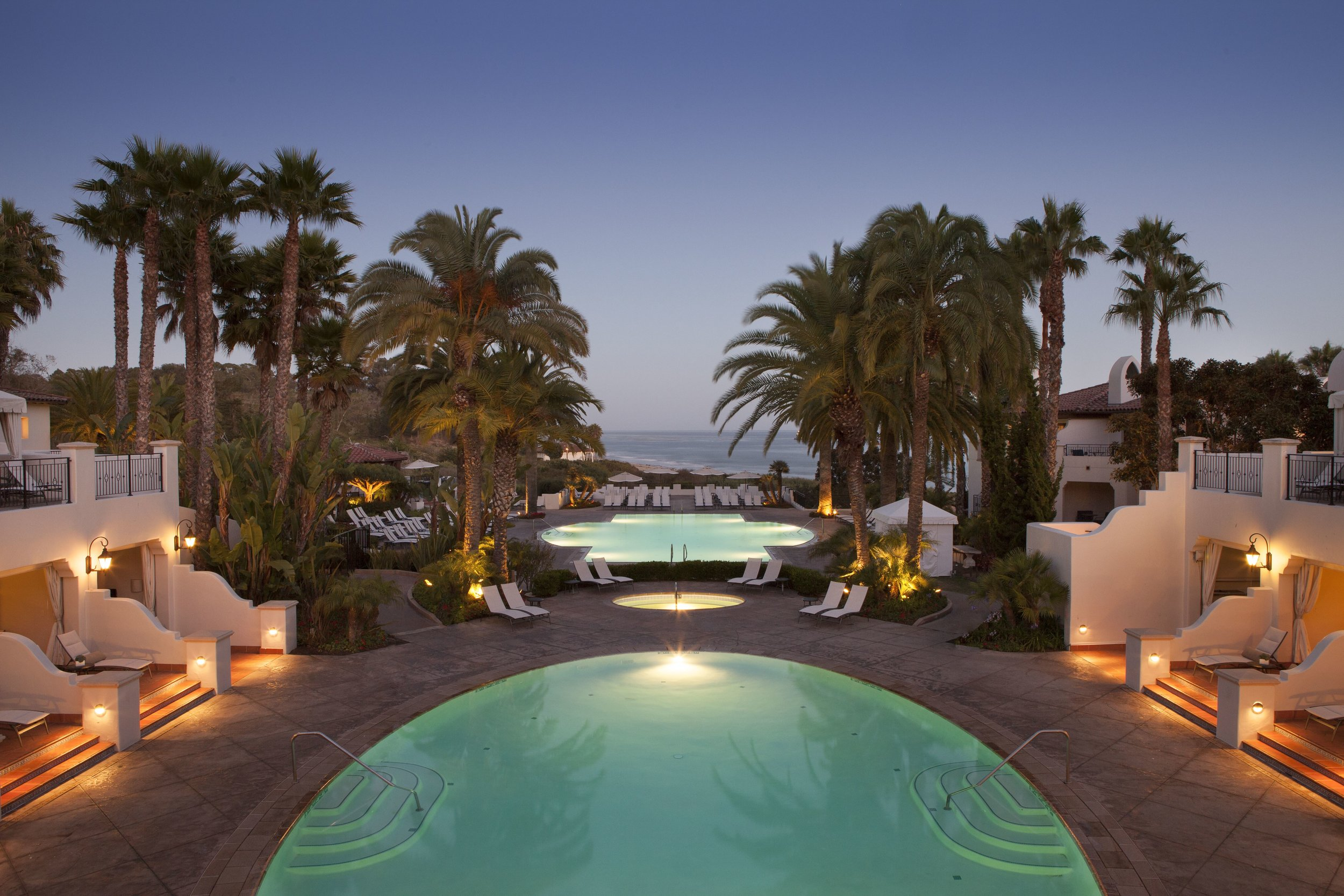 Resort Pool Sunset - The Ritz-Carlton Bacara, Santa Barbara.jpg