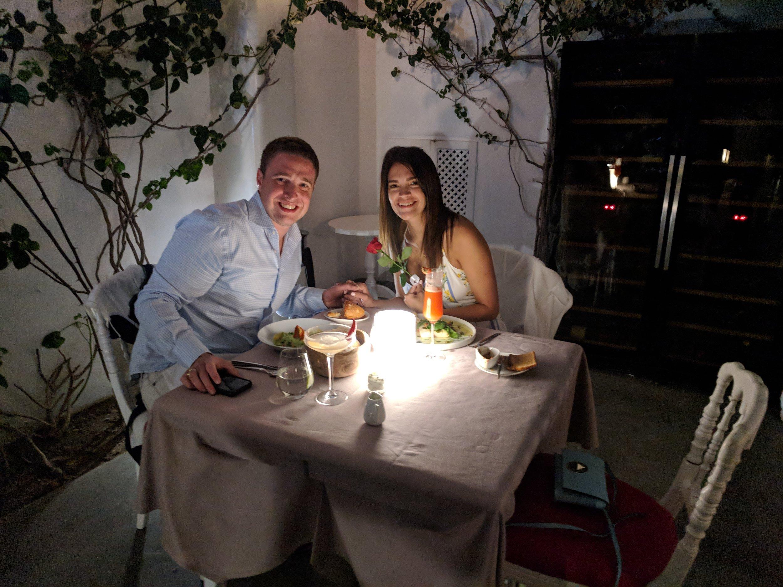 Robert and Princess Kerins in Santorini, Greece