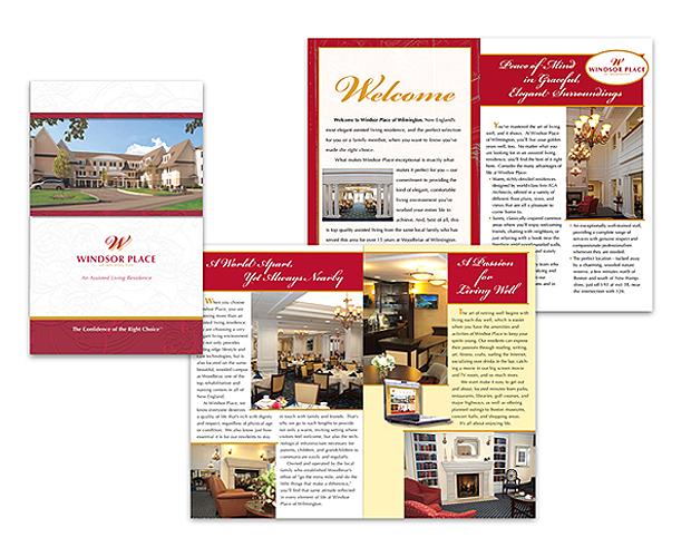 assisted living center brochure