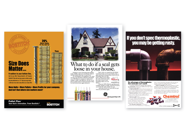 VARIOUS INDUSTRIAL PRINT ADS