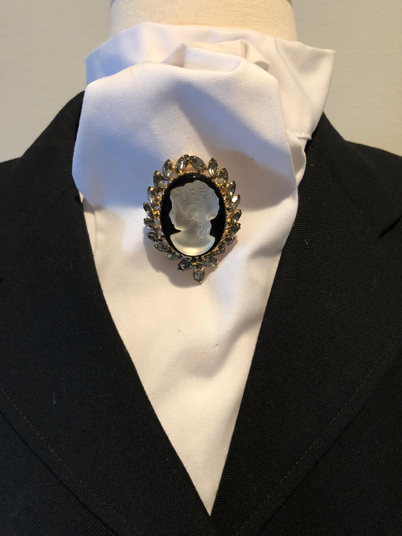 Dressage stock tie pin