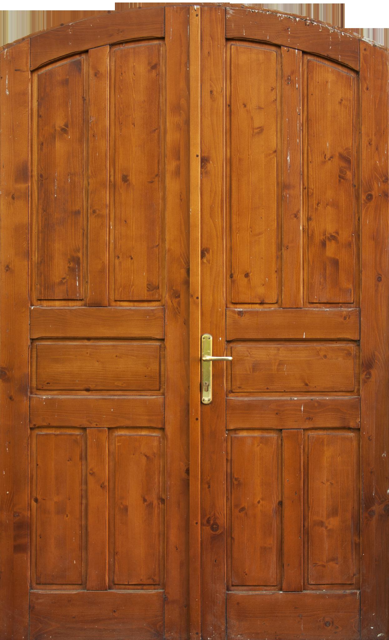 Arched Honey Double Door.png