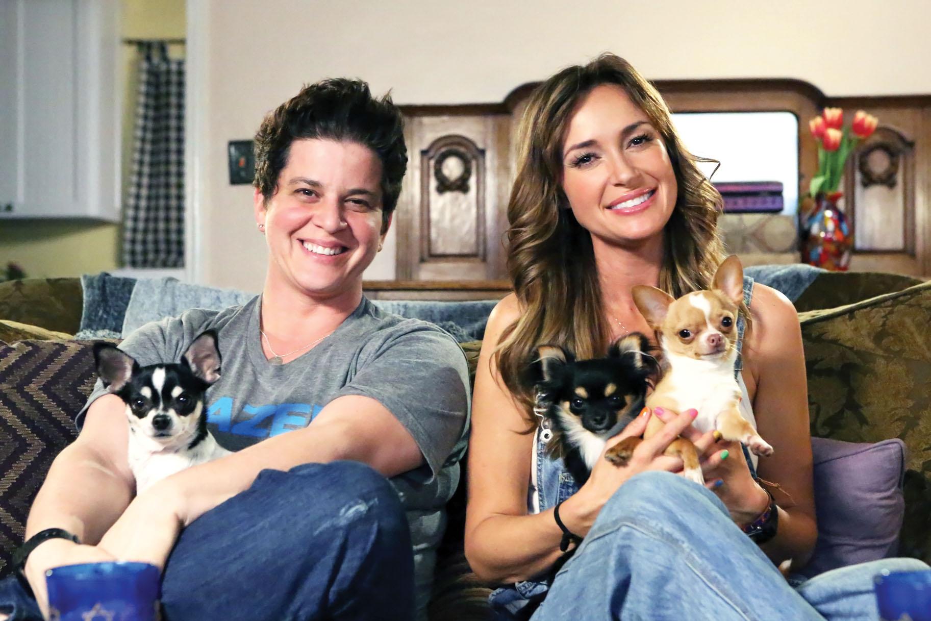 "Julie Goldman & Brandy Howard, Writing Partner/Bravo Co-Star, on ""The Poeple's Couch"", Photo Credit: Bravo"