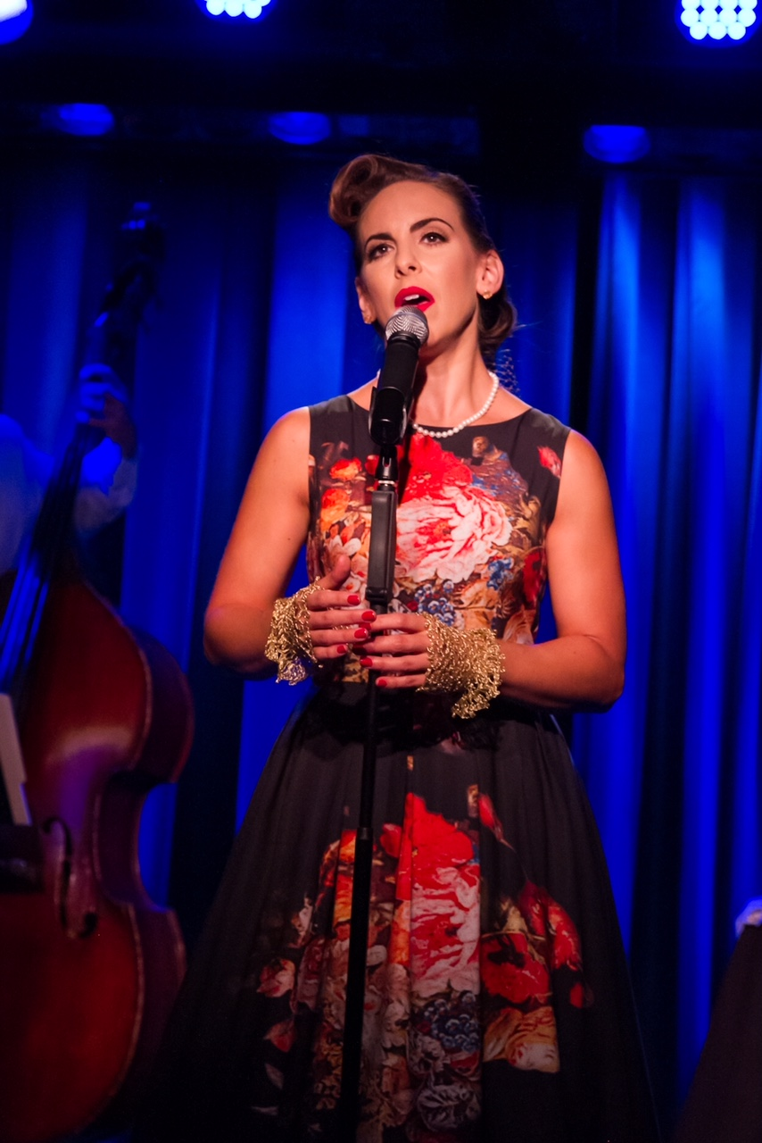 Dawn Derow performing in  My Ship: The Songs of 1941   at The Laurie Beechman Theatre, Photo Credit:Matt Baker
