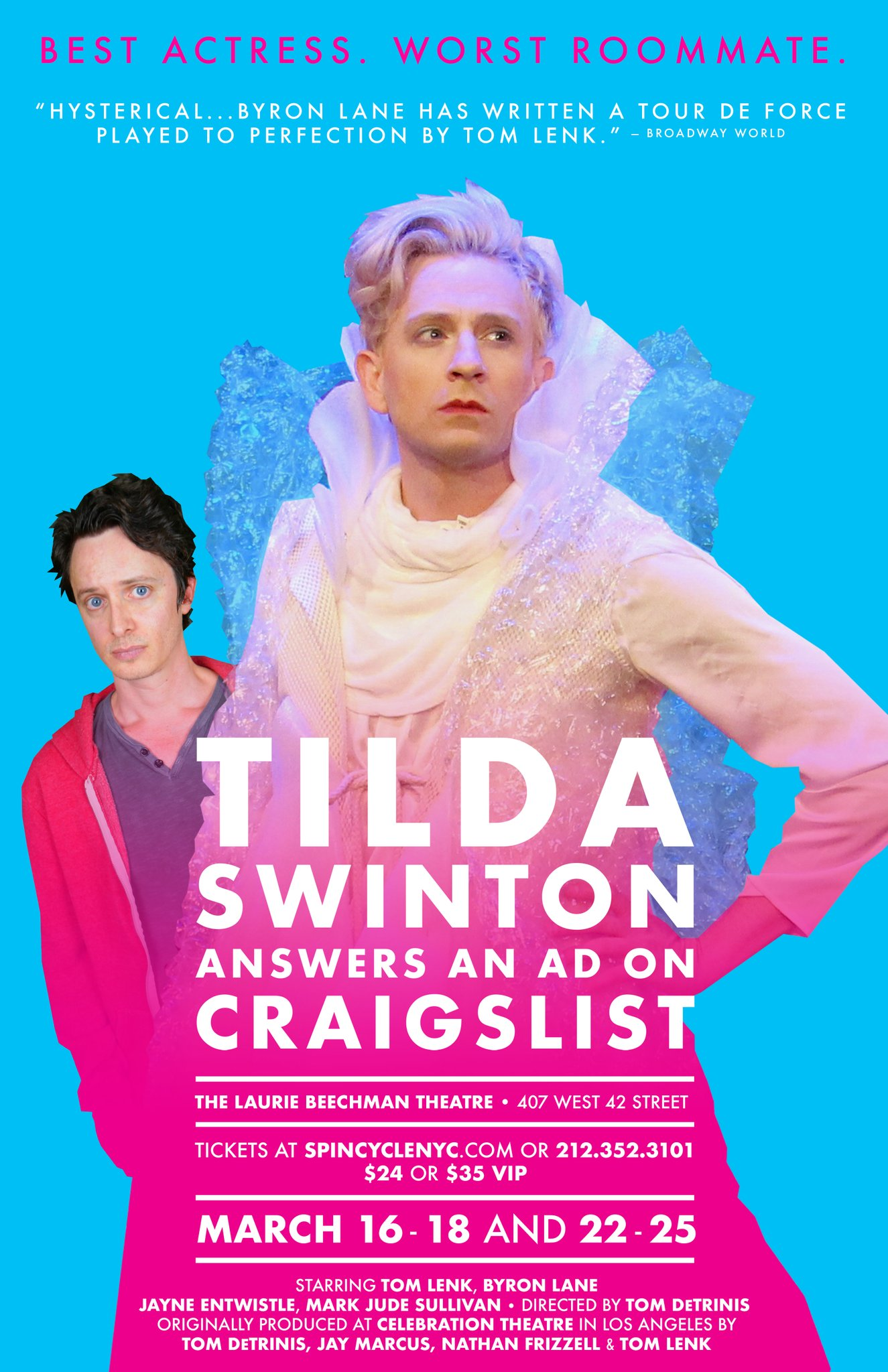 Byron Lane (left) and Tom Lenk (right) in  Tilda Swinton Answers An Ad On Craigslist