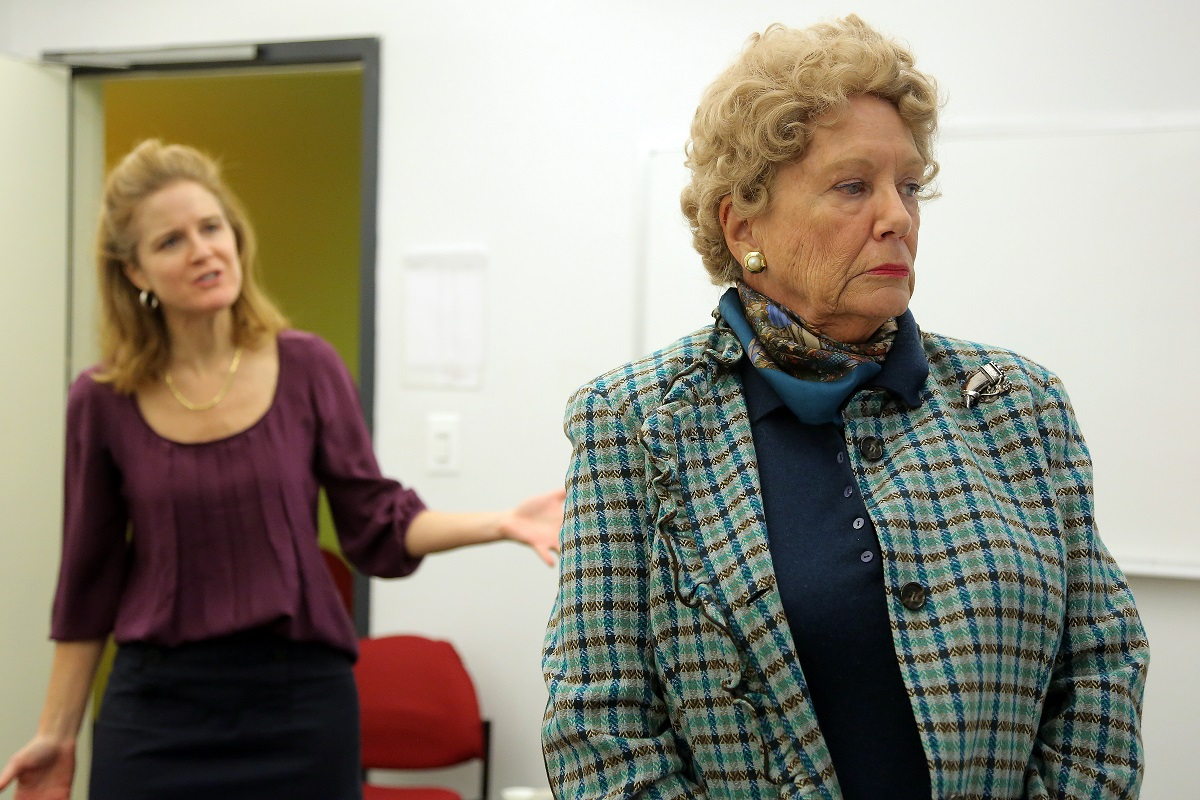 "Kate Grimes and Judith Barcroft rehearsing for ""Rosemary and Time"""