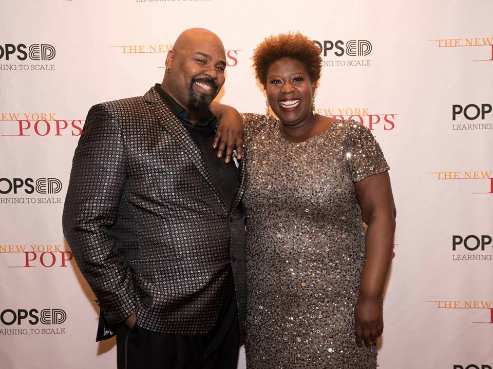 "James Monroe Iglehart and Capathia Jenkins at The New York Pops' ""Heart and Soul"""