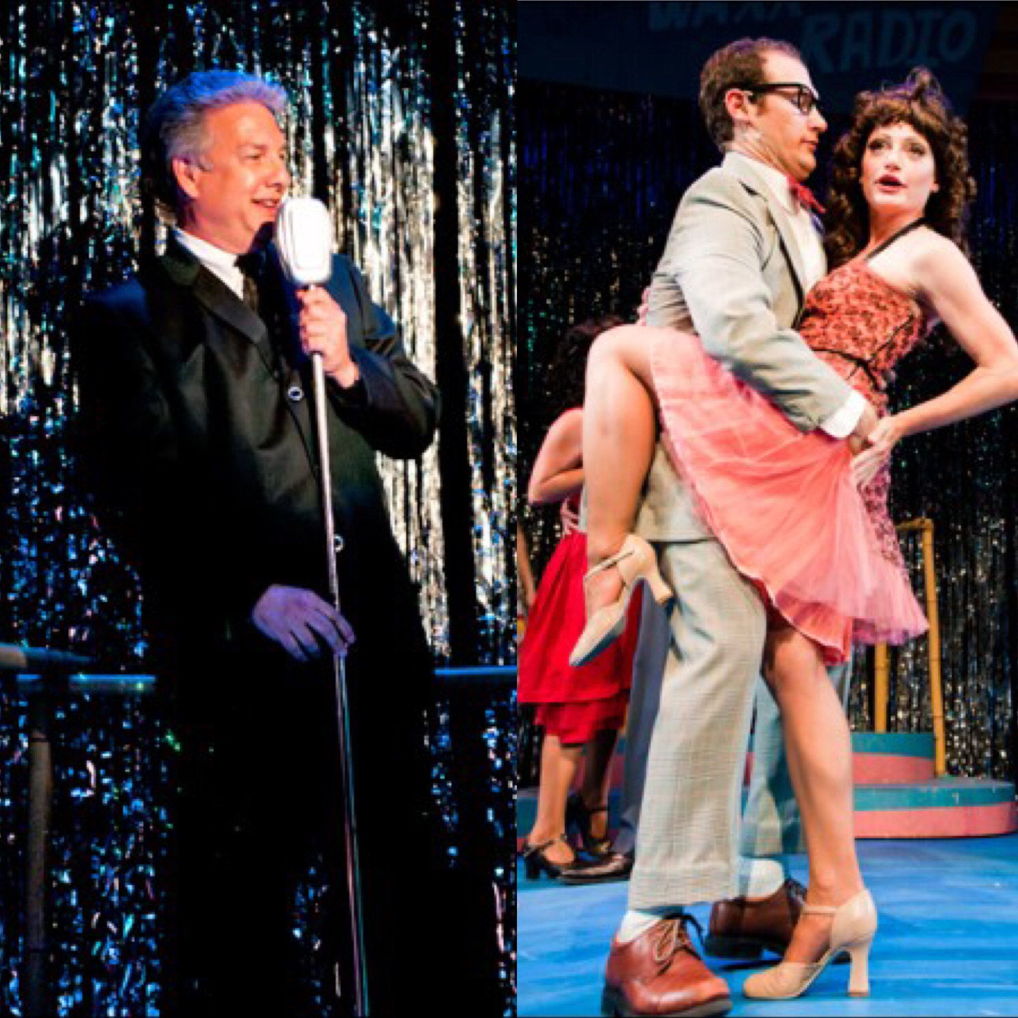 """Marc Summers, Drew Gasparini, and Dana Maddox in """"Grease"""" at Surflight, Photo Credit: Chase Heilman"""