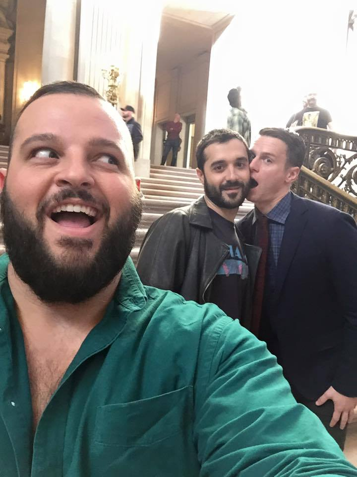 "Daniel Franzese, Frankie J Alvarez, and Jonathan Groff from HBO's ""Looking"""
