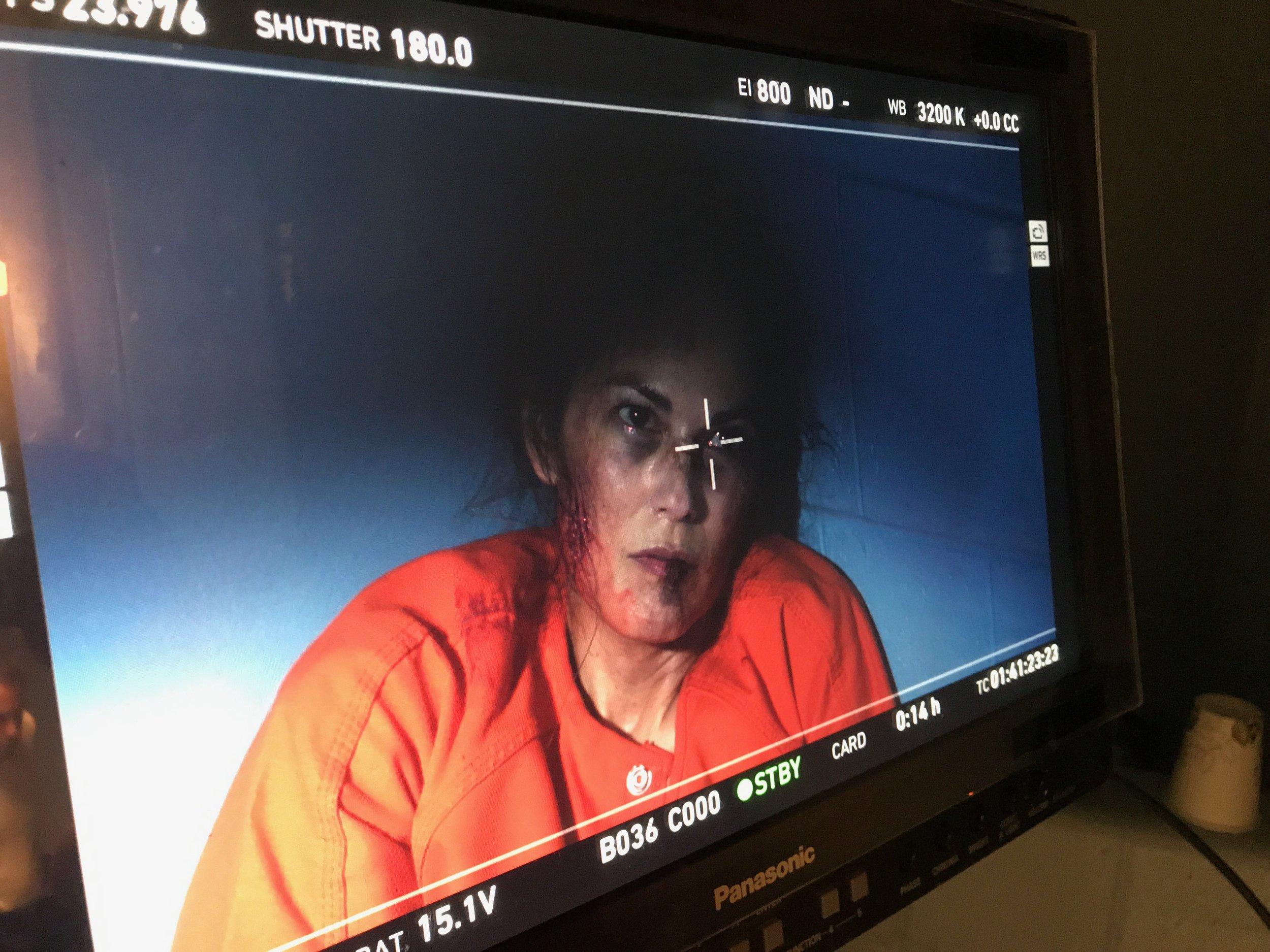 "Terri Ivens filming ""The Last Exorcist"""