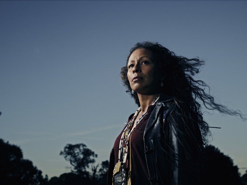 "Tamara Tunie as ""Marie Van Der Veen"" in ""The Red Road"" on Sundance TV"