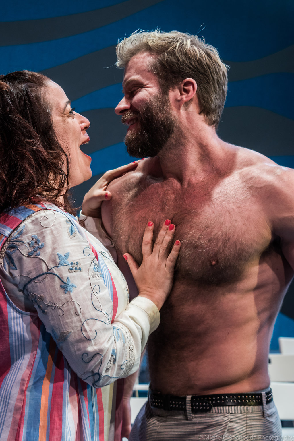 """Craig Ramsay and Sheri Sanders in ACT of Connecticut's """"Mamma Mia"""", Photo Credit:Michelle Spanedda Photography"""