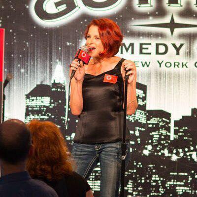 Lynn Harris performing at Gotham Comedy Club, Photo Credit; Denise Winters