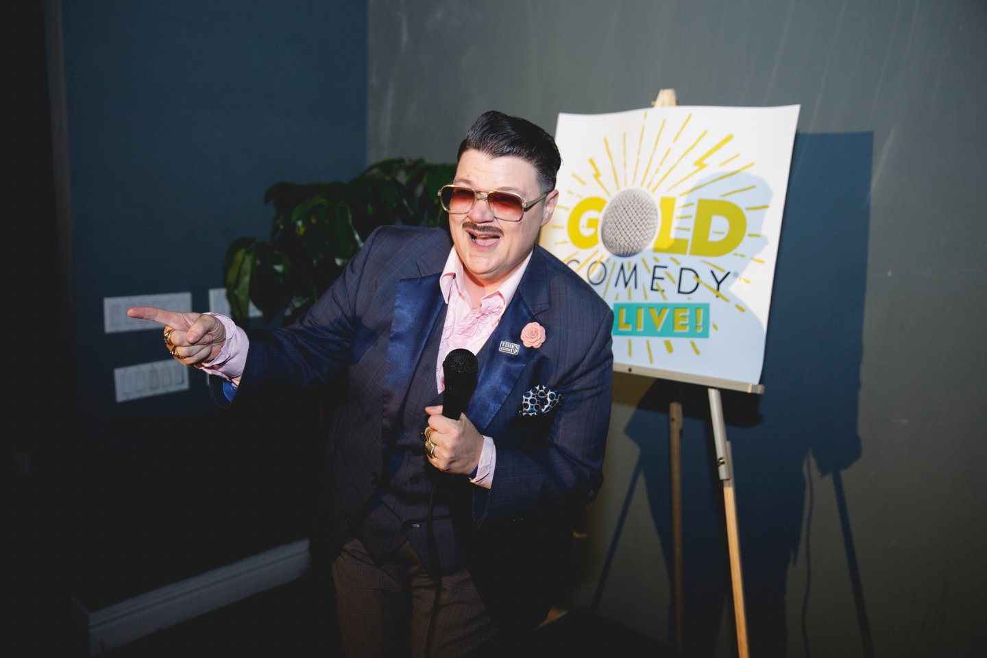 """Murray Hill performing at """"GOLD Comedy LIVE!"""", Photo Credit: Noel Woodford"""