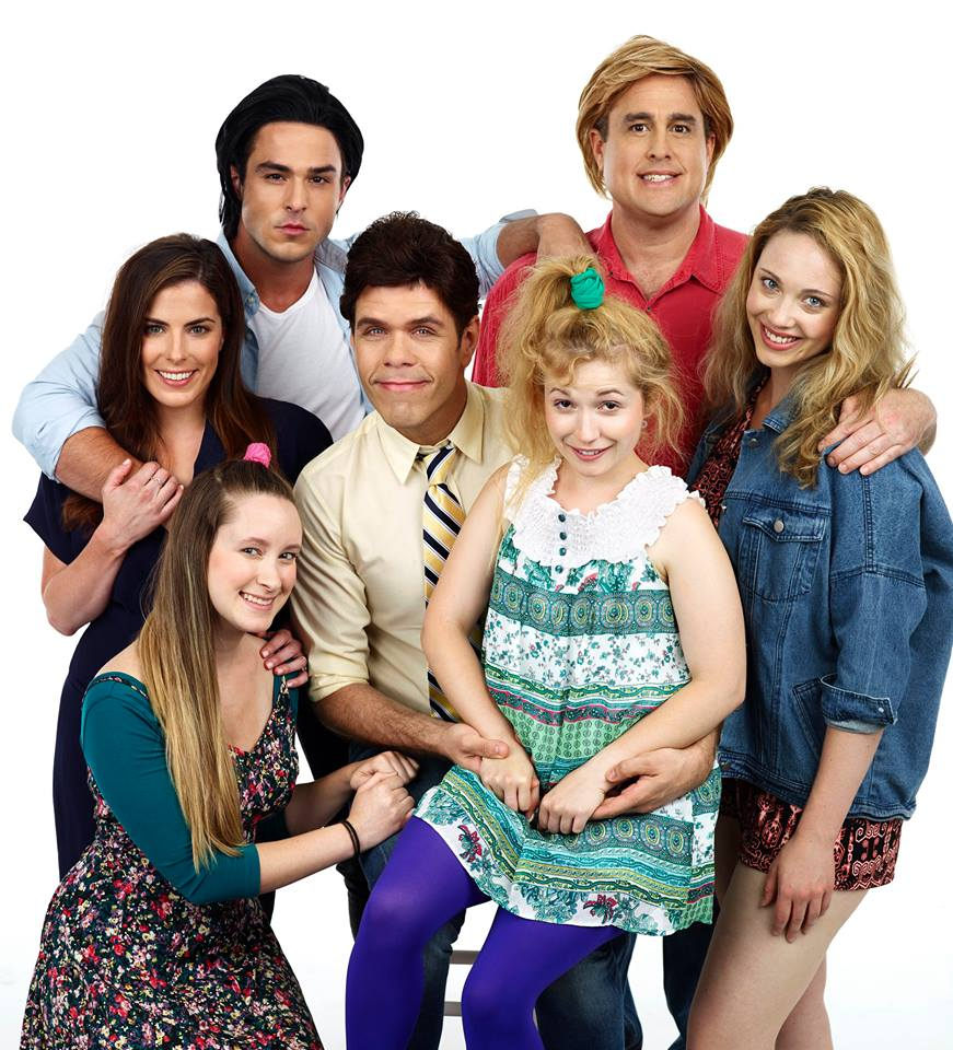 "From left to right: Toronto Cast of ""Full House The Musical"": Marguerite Halcovage, Bridget Russell Kennedy, John Duff, Perez Hilton, Marshall Louise, Amanda Nichols, and Seth Blum, Photo Credit: Nathan West"