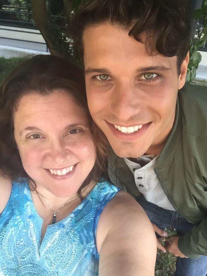 "Candice T. Cain and Cody Calafiore on the set of ""New Dogs, Old Tricks"", Photo Credit: Candice Cain"