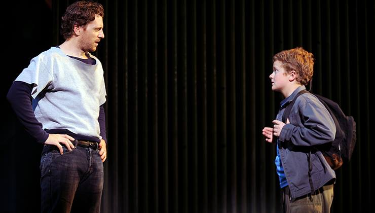 """Andy Kelso and Jack Engel in """"The Full Monty"""" at Pittsburgh CLO"""