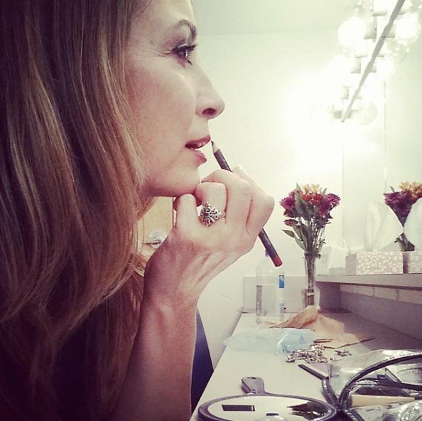 Linda Eder backstage in Keene, NH