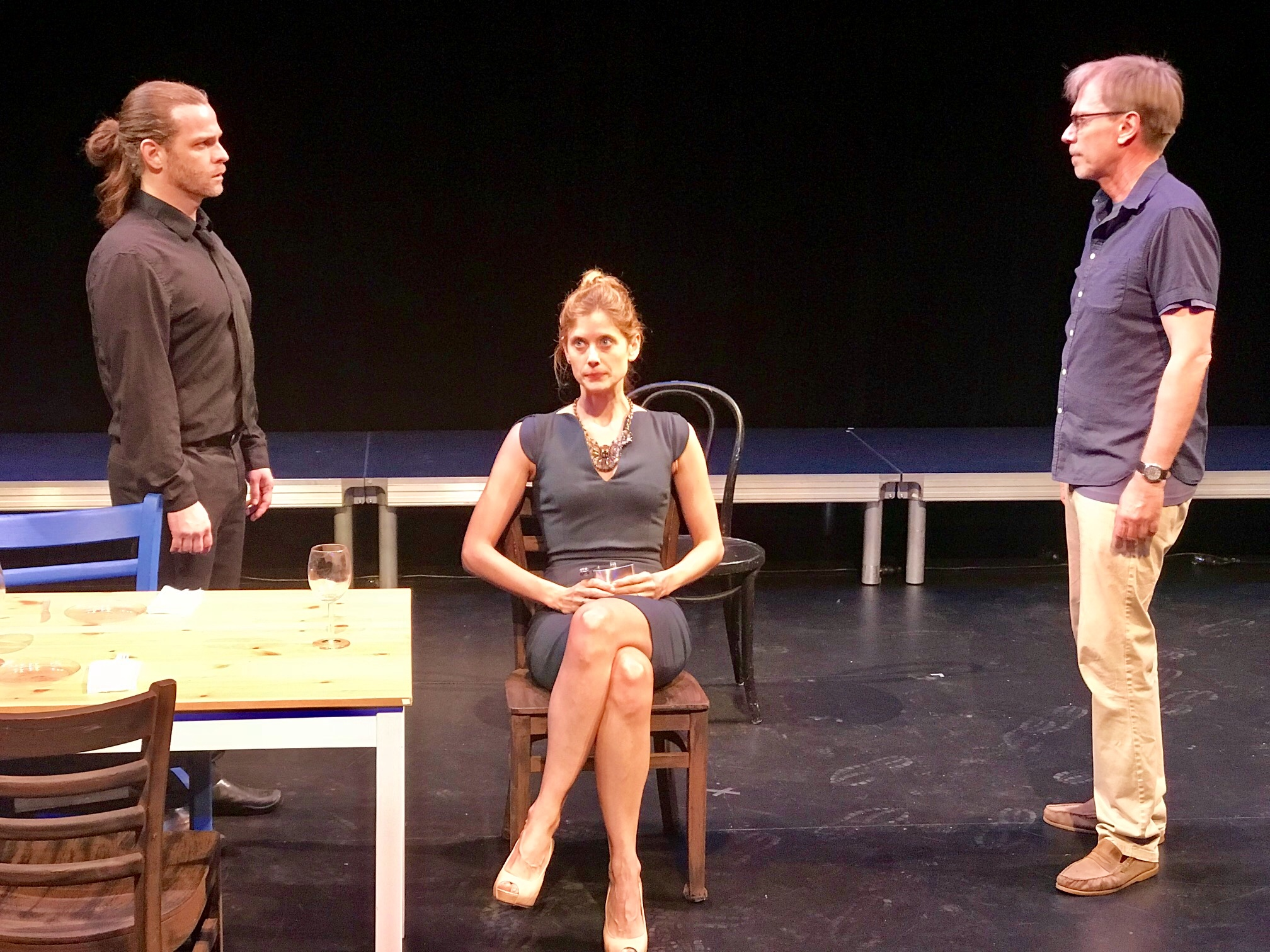 """Sandro Isaack, Elizabeth Inghram, and David Dean Bottrell in Mark Jason Williams' """"The Other Day"""""""