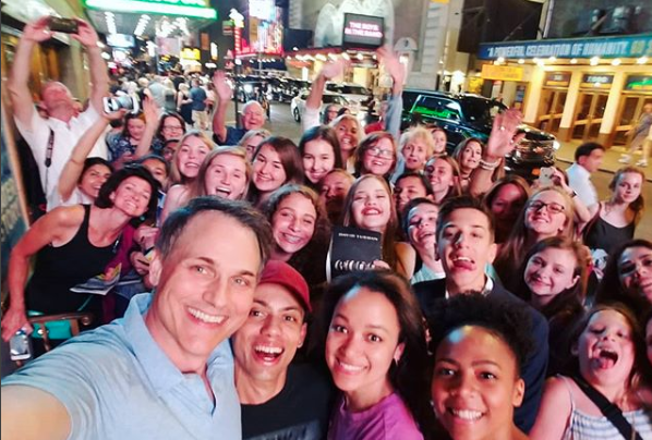 "Asa Somers at the ""Dear Evan Hansen"" stage door"
