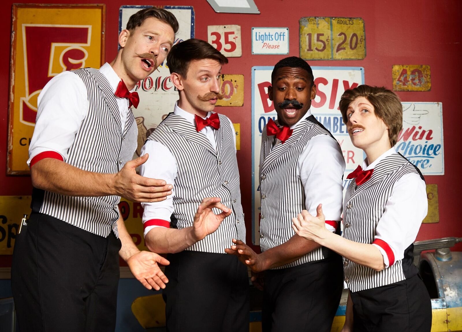 "Jonothon Lyons, Teddy Yudain, Jelani Remy, Amanda Ryan Paige in ""The Apple Boys"", Photo Credit: Steven Menendez"