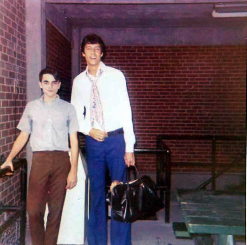 "Lawrence Leritz and Choreographer Tommy Tune Backstage at The Muny during performances of ""State Fair"""