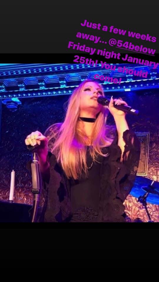 Karine Hannah performing at Feinstein's/54 Below