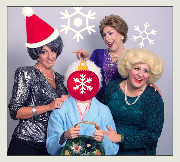 Left to Right: Jason B. Schmidt (Dorothy), Andy Crosten (Blanche), Gerry Mastrolia (Rose)