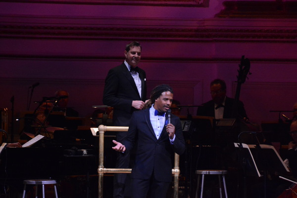 """Ryan Shaw & Steven Reineke performing at The New York Pops' """"Unforgettable: Celebrating Nat King Cole and Friends""""Photo Credit: Genevieve Rafter Keddy"""