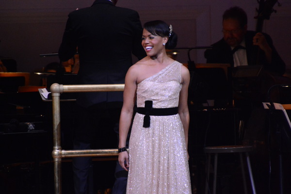 """Nikki Renee Daniels performing at The New York Pops' """"Unforgettable: Celebrating Nat King Cole and Friends""""Photo Credit: Genevieve Rafter Keddy"""