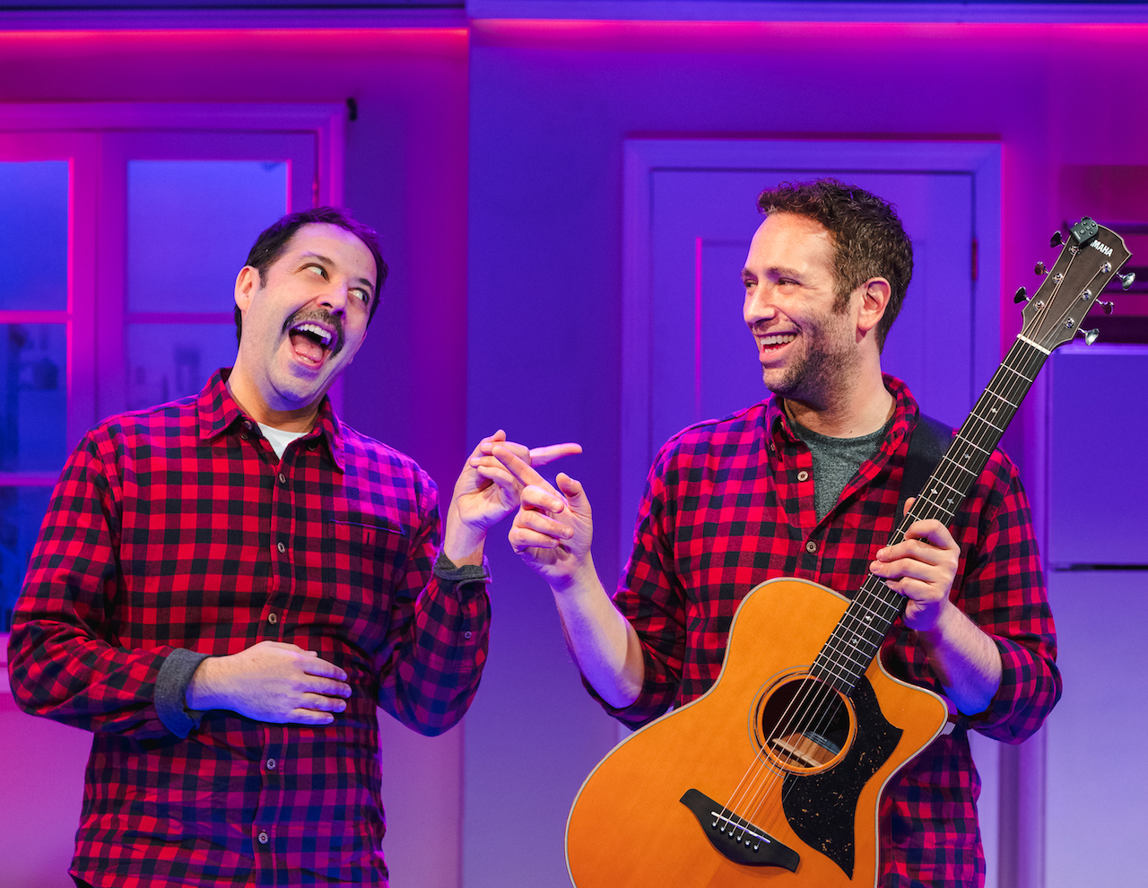 "Steve Rosen (left) and David Rossmer (right) in ""The Other Josh Cohen"", Photo Credit: Caitlin McNaney"