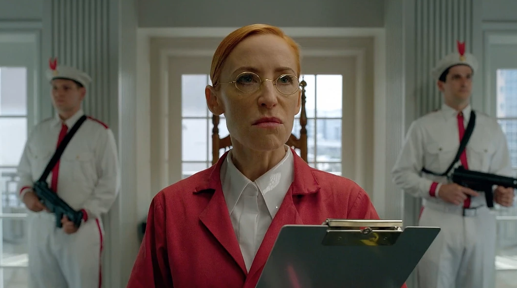 "Karen Strassman as ""Dr. Lois Slotnick"" on ""The Preacher"""