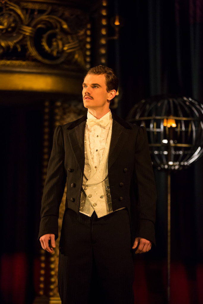 """Jay Armstrong Johnson as """"Raoul"""" in """"The Phantom of the Opera"""", Photo Credit: Matthew Murphy"""