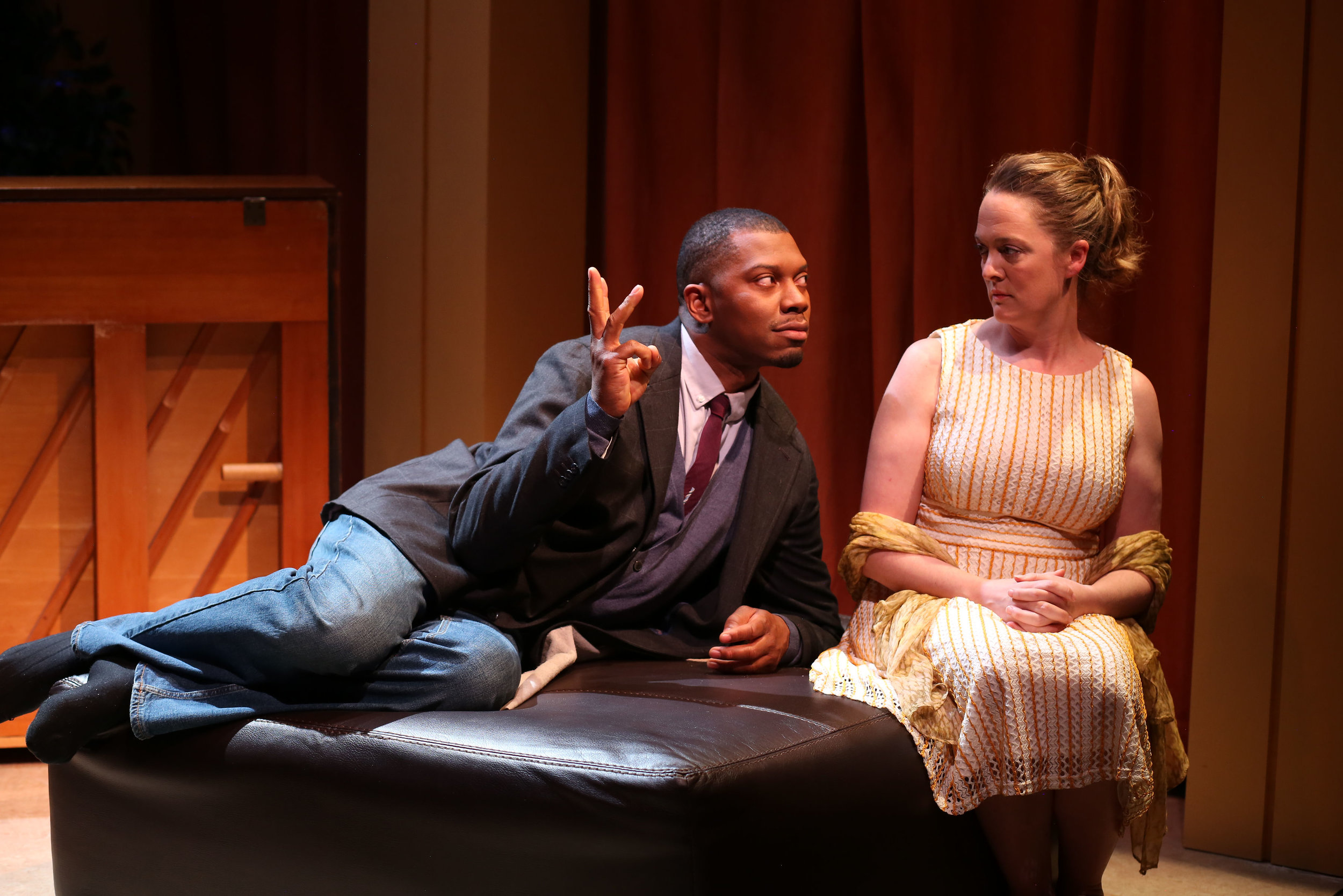 """Brian Demar Jones & Polly Lee in """"Leap and the Net Will Appear"""", Photo Credit: Marina McClure"""