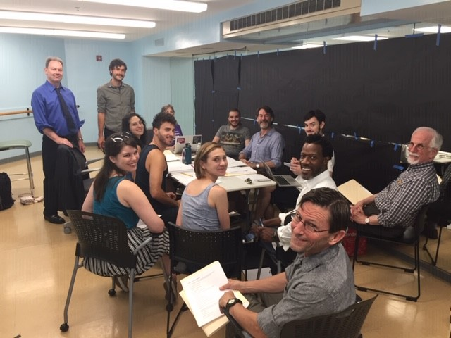 "Cast and Creative Team of ""Heloise"" at rehearsal"