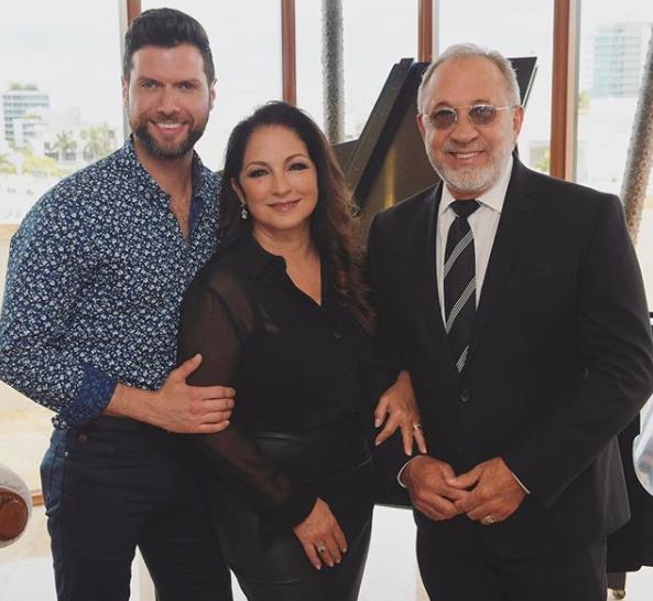 Mauricio Martinez with Gloria and Emilio Estefan