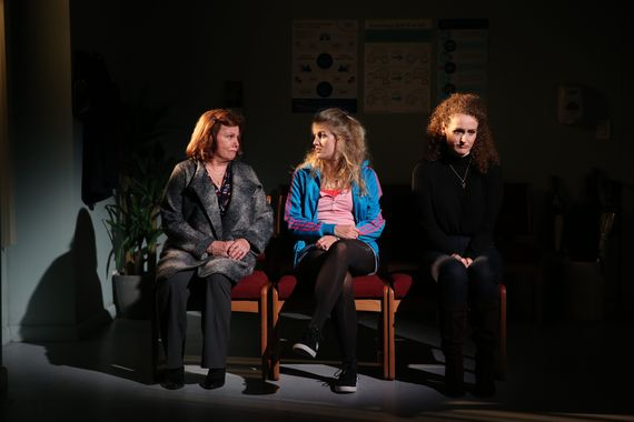 "Marsha Mason, Lauren O'Leary, Brenda Meaney in Irish Repertory Theatre's ""Little Gem"", Photo Credit: Carol Rosegg"