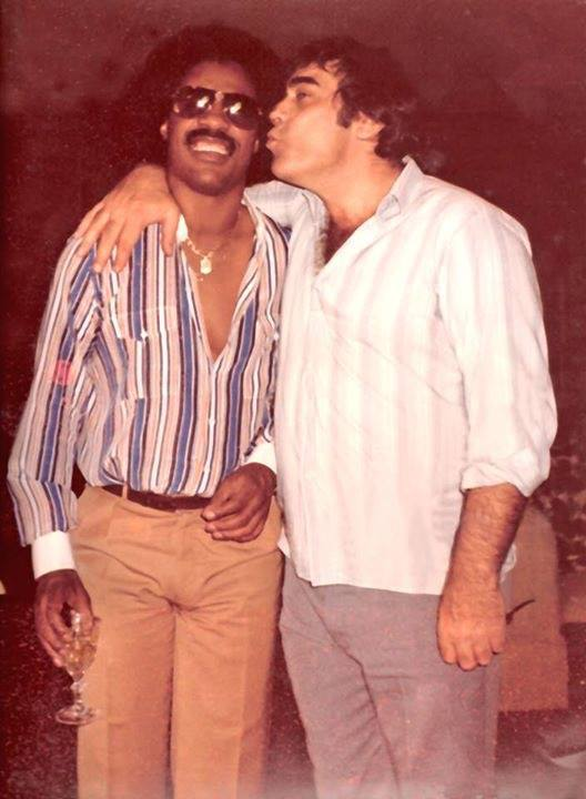 Stevie Wonder and Ron Miller (Mark Arthur Miller's father)