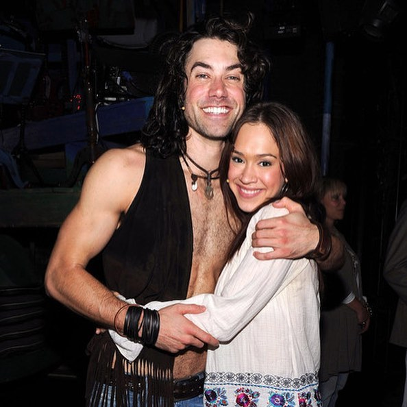 "Ace Young and Diana DeGarmo in ""Hair"" on Broadway as ""Berger"" and ""Sheila"""