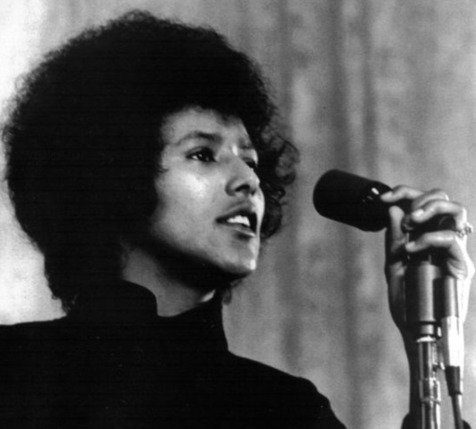 Photo of Elaine Brown via Ebony Magazine.