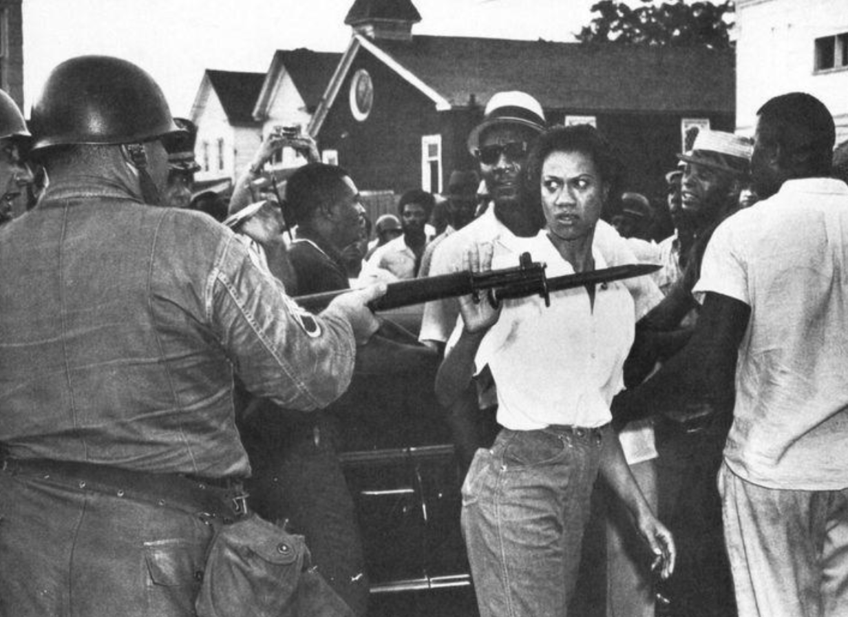 Photo of Gloria Richardson at a protest in Cambridge, Maryland. July 1963.