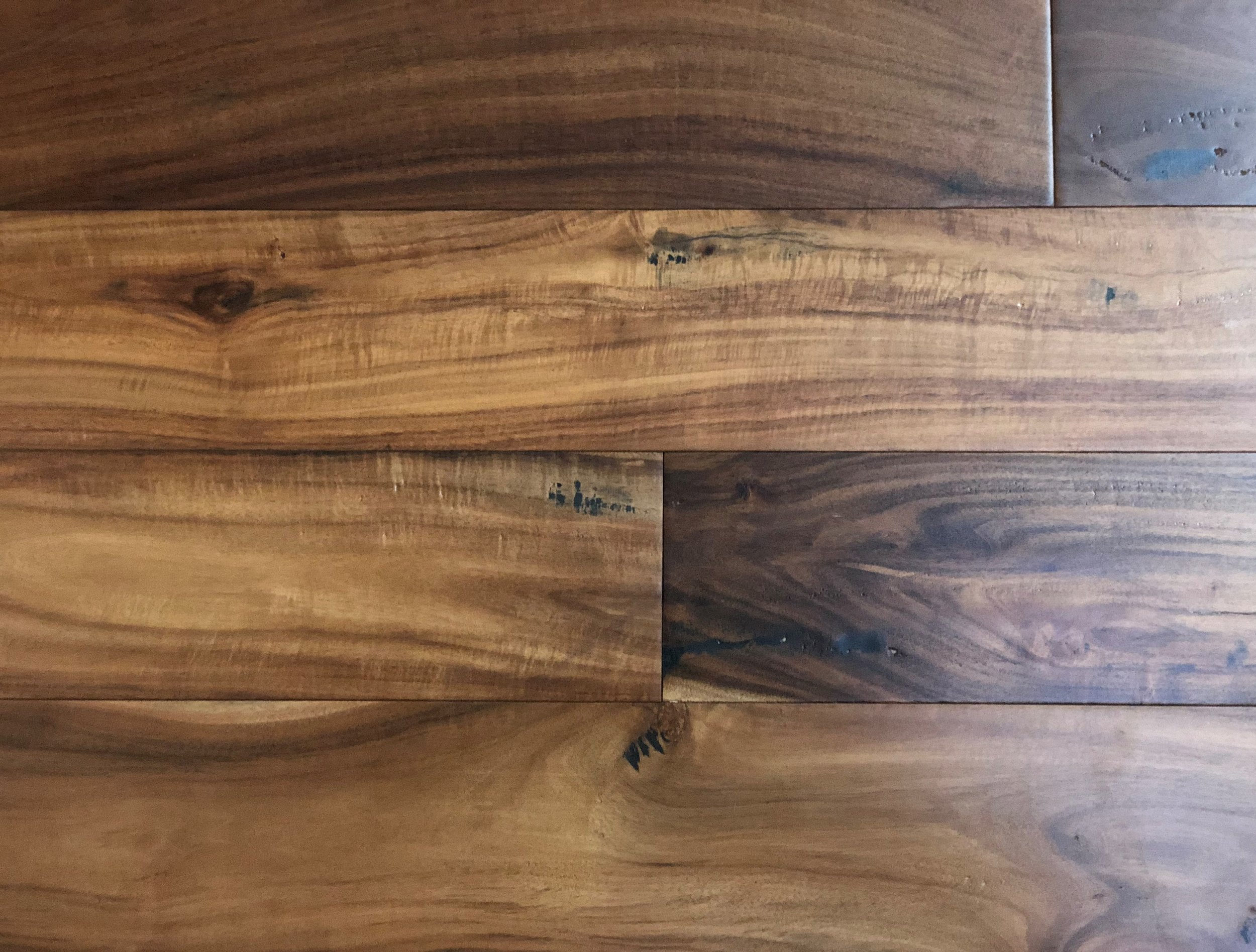 "Natural Acacia Engineered - 3/8 x 5"" engineered acacia hardwood"