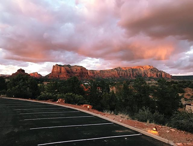 """My two feet are standing on the gritty, sun-scorched red earth of a sacred place called Sedona; my lungs are breathing in dry desert air laced with the smell before rain. My tongue is tingly with the heavenly kiss of citrus from lemons picked from a tree at our little casa.🍋 . My soul is full of what it means to be human, to be connected. . BABES - there is literally a place called The Vortex here. A geo-point of magnetic convergence HERE. 😶 And I had literally NO IDEA when I decided to take this trip 🥰🧚♂️✨ . I'm home and I can feel it. I am SO SO grateful. I am expanding time in a major way. I am tapped so deep into the transience of what it means to be human but also the eternity of time available within every sensual experience.✨ . In honor of International Womxn's Day; I have a simple; inspiring message... 💕 . Life changes the moment we decide we are done hiding. 🌞 TODAY is our day to declare this. Whether it is your convictions, your nipples, your desires; your sexuality, your art, your ANYTHING - especially anything that a patriarchal system has compelled you to hide in order to survive - this is YOUR day: this is our day, to support each other in being ALL of who we are without apology, without having to justify our right to be it. . I am declaring that here for me. Sedona will forever be my portal, my baptismal, my renewal, an invitation to be ALL of me for the first time in my life, in all spaces and in all ways.🦂🌵🦎🍋 . You are going to be seeing the word womxn used consistently in all of my marketing from here on out. 🌞 . Womxn is a word that makes an etymological distinction that """"women"""" are not """"the derivative helpmeet"""" of mEn as depicted in the biblical story, but are rather entirely equal to and distinct from men. . The X also reframes feminism from its historically white roots that put the white, cis experience front and center. As white women; we need to CONSCIOUSLY INCLUDE the voices of womxn of color and trans womxn and that starts with our language"""
