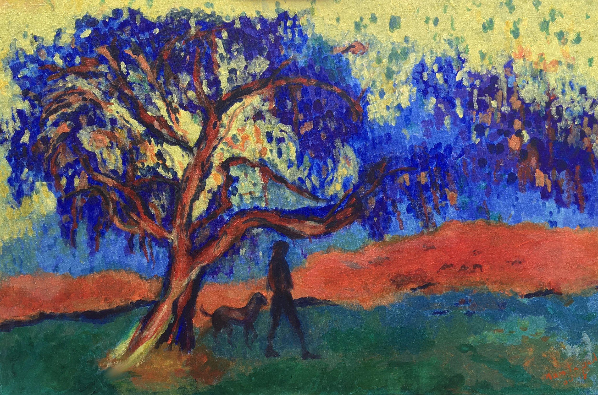 "Evening Walk    36""X24""    Acrylic on Canvas"