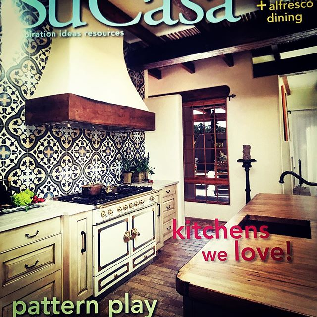 Just found out my kitchen in Santa Fe made the cover of Su Casa Magazine!!! Hurray!