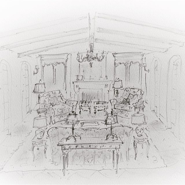 Thank you to my dear, extremely talented friend, @stuartgilchrist for all the hard work you do for me.  Your drawings are a work of art.  My clients love them.  You make it easy to tell the story of how beautiful their spaces will be!  #margecarsonfurniture #ralphlaurenfabrics #theodorealexander #habershamcabinetry #beautifulinteriors #californialiving #MONTGOMERYHOMEDESIGN