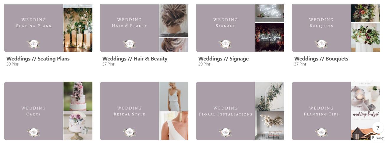 The Wildflower Wedding Planner - Pinterest board - wedding inspiration