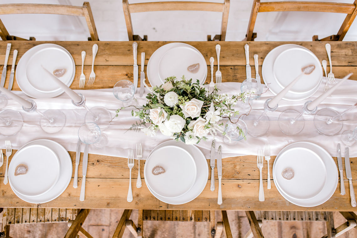 wedding table scape - fine art wedding - neutral colours - Essex wedding planner