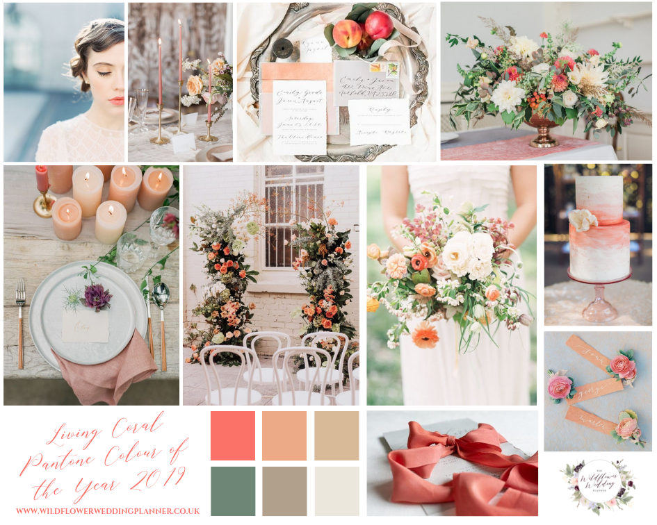 Living Coral Pantone Colour of the Year 2019 Mood Board
