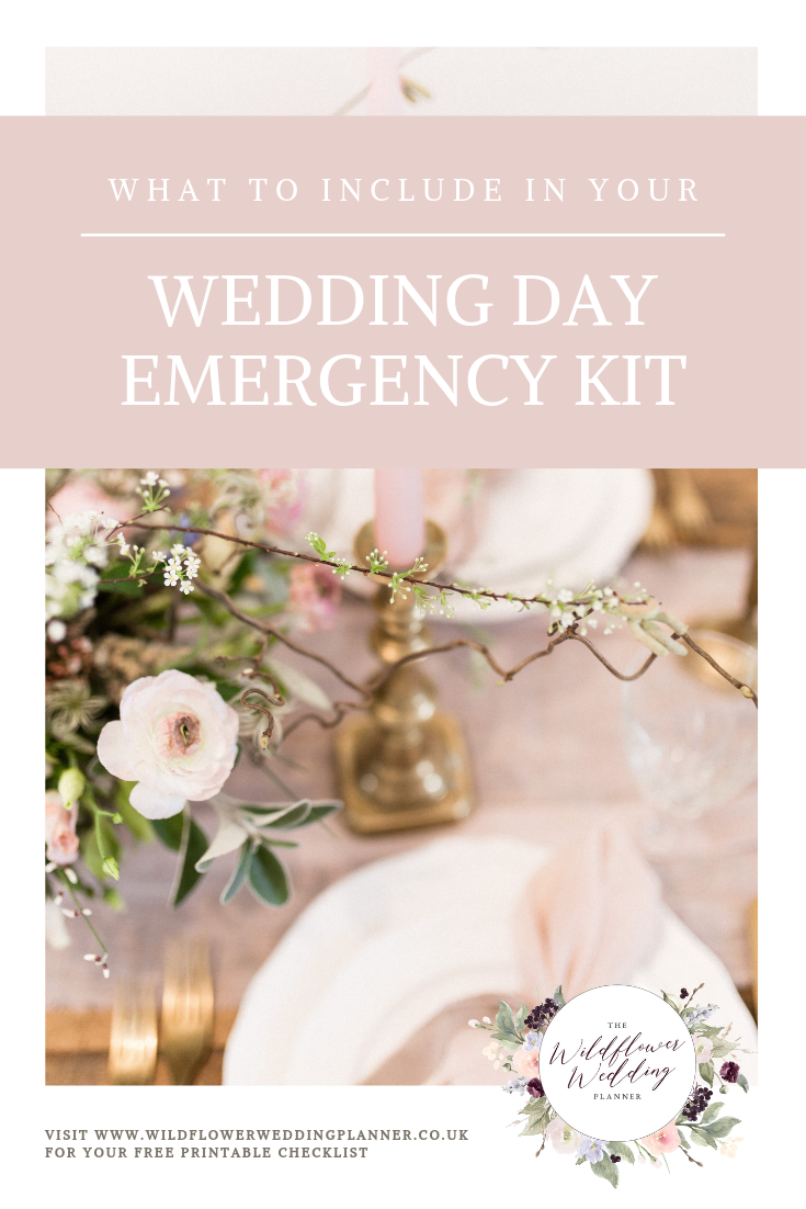 What to include in your wedding day emergency kit - marquee wedding planner - Essex Wedding Planner